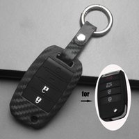 Wholesale optima cars for sale - Group buy jingyuqin Silicone Carbon Car Key Case Cover For Kia Optima Sportage Fob Soul Rio Forte Carens Remote Fob keychain
