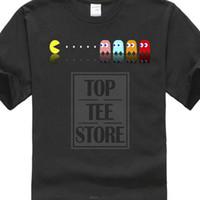 jogos de pac man venda por atacado-Pac Man Manny Jogo Arcade Pacquiao Retro Camiseta Preto Masaya Nakamura Moda Homens T Camisas Em Torno Do Pescoço