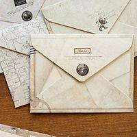 Wholesale kraft paper mini envelopes for sale - Group buy 12pcs Mini Retro Vintage Kraft Paper Envelopes Cute Cartoon Kawaii Paper Korean Stationery Gift Party Cards Scrapbooking Bag