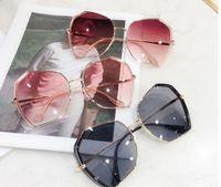 lente de aviador al por mayor-215.859 nuevas gafas de sol de aviador de la vendimia piloto lentes Hombres Mujeres UV400 polarizado Gafas Gafas de sol de espejo con el caso y box890