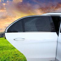cubiertas de malla de ventana al por mayor-2 Unids / lote Car Window Side Sun Shade Cover Auto Parasol UV Protection Cover Visor Protector Mesh Car Styling HHA121 001