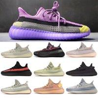 las mejores zapatillas para correr al por mayor-Kanye West de los hombres de los zapatos corrientes formadoras Zebra Negro Bred zapatillas de deporte con crema de sésamo blanco Yeehu Yecheil Deportivos Zapatos de x