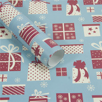 Wholesale christmas tree cutters resale online - Christmas Wrapping Paper Gift Present Tree Santa Wrap Decorative Xmas Party Roll Christmas Paper Cutter Decor Gift