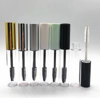 para tubos de rímel al por mayor-10ML Botella de máscara de rímel vacío con tubo de varilla de pestañas Cepillo redondo Botellas de pestañas PETG transparente Vaciar máscara de rímel botellas de embalaje GGA2088