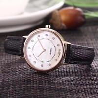 reloj de acero inoxidable aaa al por mayor-AAA marca de lujo reloj de pulsera de acero inoxidable para mujer y para hombre caja de cuero correa de zafiro reloj de vestido de moda de movimiento de cuarzo japonés