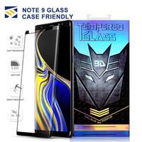 ingrosso colla per il corpo-Case Friendly Full GLUE Vetro temperato per Samsung Galaxy Note 9 8 S10 S9 S8 Plus S7 S6 Bordo Note9 3D Curve Screen Protector