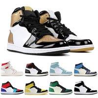 basketbol baskı ayakkabıları toptan satış-2020 basketbol erkek ayakkabı 1 yüksek OG 1s NRG iglo yasaklı bukalemun siyah beyaz baskı Chicago kraliyet Parça kırmızı spor eğitmenleri sneakrs gölge