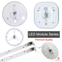 install led leuchten decke großhandel-Rundes LED-Modul installieren Deckenleuchte LED-Lichter ersetzen anstelle der U-Röhre der Glühlampendecke 12W 18W 24W Quelle Freies Verschiffen