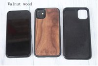 Wholesale iphone solid wood case online – custom For iPhone pro max X XS XR Manufacturer s TPU Fall Solid Wood Phone case for iphone plus