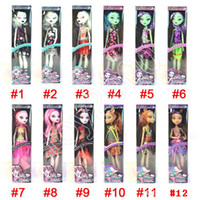 Wholesale designing toy puppet resale online - 12 Design Halloween Monster Fun High Dolls action figures Monster Draculaura Hight Moveable Joint Best Gift Fashion Dolls for kids toys