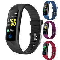 Wholesale sports camera gps for sale - Group buy S5 IP68 Waterproof Smart Bracelet inchTouch Screen Bluetooth Heart Rate Monitor Sports Band Wristband Camera For Android IOS smart phone