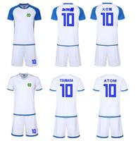 camisetas de fútbol de alta calidad al por mayor-Kits de fútbol de alta calidad Kids / Men Asia tamaño 2019 2020, uniforme de Maillot de Foot Capitán Tsubasa japón oliver atom agradable Nuevas camisetas de fútbol
