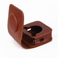 omuz taşıma çantası toptan satış-Instax Spuare SQ10 Kamera için PU Deri Çanta Case Vintage Omuz Askısı Kılıfı Kamera Taşıma Kapak Koruma Çantası