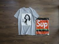 Wholesale logo resale online - Spring summer new short sleeve popular logo T shirt men s and women s grey s xxl