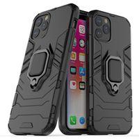 halka tutucu telefon çantası toptan satış-Halka Tutucu ile Zırh Darbeye Telefon Kılıfı Kapak iPhone 11 Pro Max 8 Plus X XS Max XR Samsung Note10 S10