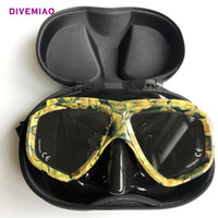 Wholesale black dive mask for sale - Group buy Diving Masks Professional dive mask for snorkerling goggle black free dive Mask with Box for spearfishing diver