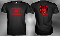 ingrosso mondo del tempo libero-nWo Red Wolfpack New World Ordine Wolfpac T-shirt Taglia S M L XL 2XL 3XL Stile Hip Hop Top Tee Shirt Casual Man manica corta per il tempo libero