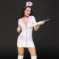 krankenschwester uniform kostüme cosplay großhandel-2019 heiße krankenschwester cosplay kostüme porno frauen sexy dessous fantasien krankenschwester uniform hot party dress 6911