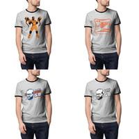 laranja camisas de futebol americano venda por atacado-Futebol americano Miller's Studio 58 Mostrar cinza Verão Mens T Camisetas Designer laranja É TEMPO MILLER BOLA DE Dragão Chinês 50 sacos