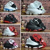 zapatos de baloncesto para niños talla 13 al por mayor-Nike air jordan 13 retro Venta en línea Barato New 13 Zapatillas de baloncesto para niños Zapatillas para niñas de niños Zapatillas para correr Babys 13s Tamaño 11C-3Y