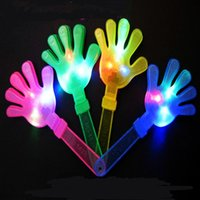 Wholesale claps toys for sale - Lighted Palm Beat Fluorescence Flash Clapping Device Vocal Concert Toy Party Bar Cm cm Popular Fashion ph D1