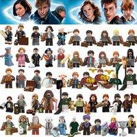 baustein freunde großhandel-50pcs Figuren Fantastische Tiere Rubeus Hagrid Dobby Seamus Finnigan Hermine Moody Harry Potter Bauklotz Freund-Geschenk-Spielzeug