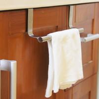 Wholesale stainless steel sink rack resale online - Stainless Steel Holder Hanger Tissue Roll Towel Rack Bathroom Toilet Sink Door Hanging Organizer Storage Kitchen Accessories