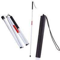 kasırga bastonu toptan satış-Açık Ayak Crutch Katlanır Trekking Direkleri Kör Çubuk Dört Çeyrek Baston Alüminyum Alaşım Kılavuzu Kamışı 9 5hsC1
