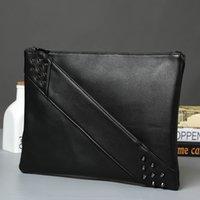 pochette en simili cuir achat en gros de-Mode femme Rivet embrayages, concepteur de luxe sac enveloppe, sac d'embrayage, porte-monnaie en faux cuir, sac de messager pour les femmes,