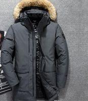 homem de casaco de peles branco venda por atacado-Novo Design dos homens Para Baixo Jaquetas Parkas Inverno Norte de Esqui Pato Branco Para Baixo Casacos de Peles Longas Jaquetas Outdooor Casacos SoftShell S-XXL