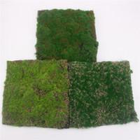 ingrosso tappeto artificiale diy-Simulazione Moss Turf Lawn Wall Green Fake Plant DIY Artificial Grass Board Matrimonio Home Hotel Sfondo Shop Window Decoration