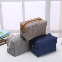 Wholesale cosmetic logos online - Fashion portable cosmetic bag Simple square bags Commute Storage Customized logo Zipper handbag Home Furnishing fashion