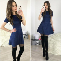 Distribuidores De Descuento Vestido Azul Oscuro De Invierno