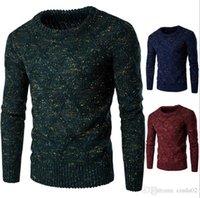 ingrosso pullover formale-Pullover solidi standard di alta qualità Moda o-collo Maglioni da uomo Auturm Winter Cashmere Men Maglia lavorata a maglia