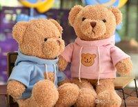 grande urso de peluche meninas venda por atacado-20170634 New Hot Selling Frete grátis Para as meninas presentes Dias importantes podem ser enviados Plush Toy Bonito Big Bear Boneca Vestida Teddy Bear