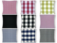Wholesale pillow case design free for sale - Group buy Cushions Cover Plaid Throw Pillow Case Check Decorative Pillows Covers Office Car Home Sofa Decor Designs DHL Free LYW3449