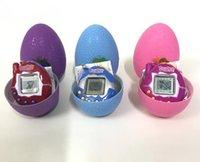 digitale haustiere spiele großhandel-Licht Dinosaurier Ei Tamagotchi digitale elektronische Haustier Spielmaschine Tamagochi Spielzeug Spiel Handheld Mini lustige virtuelle Haustier Maschine Spielzeug