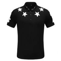 polo tişört baskısı toptan satış-Erkek tasarımcı polo gömlek marka mektubu Baskı Üst t shirt için İtalya Moda polo gömlek erkekler Yüksek sokak Pamuk etiketleri t shirt Tops
