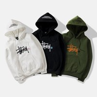 ingrosso coreani hoodie uomini-Felpa con cappuccio da uomo versione coreana ricamo ricamo moda bel tempo libero con cappuccio nuovo stile all'ingrosso