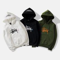 hoodies nouveau style coréen achat en gros de-Sweat à capuche hommes version coréenne lettre broderie pull mode beau loisirs nouveau style à capuche en gros
