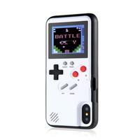 volle 3d spiele großhandel-Farbenreicher Display 3D GameBoy Telefonkasten für iPhone 7 8 6 6s Plus X klassisches Retro Tetris Spiel-Cover für iPhone XS Max XR Coque