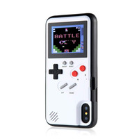 tam renkli görüntüler toptan satış-Tam Renkli Ekran 3D GameBoy Telefon Kılıfı için iPhone 7 8 6 6 s Artı X Klasik Retro Tetris Oyunu Kapak iphone XS Max XR Coque
