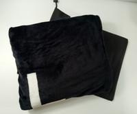 wolldecke stoff großhandel-Beliebte schwarze Koralle Haufen Decke Manta Fleece wirft Sofa / Bett / Flugzeug Travel Plaids Handtuch Decke 130cmx150cm Luxus VIP Geschenk