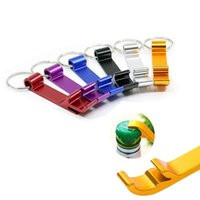 Wholesale unique bottle opener keychain for sale - Group buy Portable Aluminum Alloy Stainless Steel Keychain Bottle Opener Unique Creative Gift bartender bottle opener Premium Keyring Bottle Opener