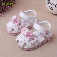 Wholesale crochet flats shoes for sale - Group buy Baby Girls Sandals Summer Kids Shoes Soft Flat Shoes Baby Sandals Girls Flower Sandale Enfant Toddlers Children Shoes Y200404