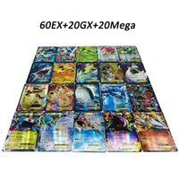 Wholesale play free kid games resale online - DHL free Playing Trading Cards Games Pikachu EX GX Mega Shine English Cards Anime Poket Monsters Cards No repeat