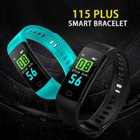 Wholesale new smart watch sale resale online - Hot Sale New Plus Color Screen Bracelet Smart Wristbands Sports Heart Rate Blood Pressure Monitor Waterproof Activity Tracker watch