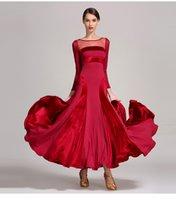 ingrosso costumi di ballo di alta qualità-Le donne standard del ballroom del progettista vestono il pacchetto moderno della fase di ballo della sala da ballo del balletto di Colorblock di alta qualità di Tango Trasporto libero