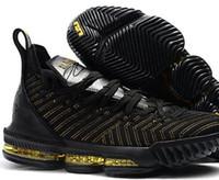 zapatilla de baloncesto al por mayor-Zapatos de baloncesto Lebron 16 para hombre Negro rojo James 16 XVI Legit Entrenadores baratos Diseñador deportivo Zapatillas Outlet