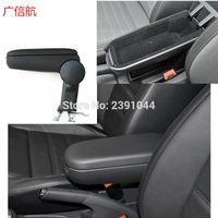 Wholesale vw new polo resale online - Fast shipping Fit for VW NEW POLO Hatchback Sedan CAR Center Armrest Console Box Arm rest Black Color Car Accessories